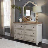 Liberty Farmhouse Reimagined Full Panel Bed, Dresser & Mirror