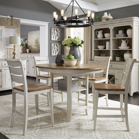Liberty Farmhouse Reimagined Opt 5 Piece Gathering Table Set