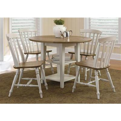 Liberty Furniture Al Fresco 5 Piece Drop Leaf Set in Driftwood and Sand Finish