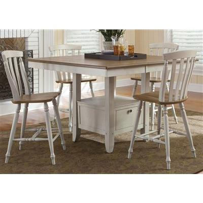 Liberty Furniture Al Fresco 6 Piece Rectangular Table Set in Driftwood and Sand Finish