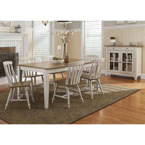 Liberty Furniture Al Fresco 7 Piece Rectangular Table Set in Driftwood and Sand Finish