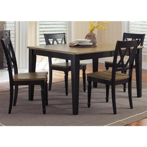 Liberty Furniture Al Fresco Opt 5 Piece Rectangular Table Set in Driftwood & Black Finish