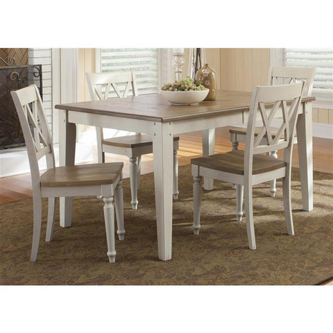 Liberty Furniture Al Fresco Opt 5 Piece Rectangular Table Set in Driftwood and Sand Finish