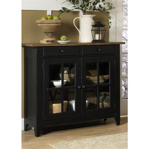 Liberty Furniture Al Fresco Server in Driftwood & Black Finish