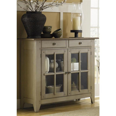 Liberty Furniture Al Fresco Server in Driftwood & Taupe Finish