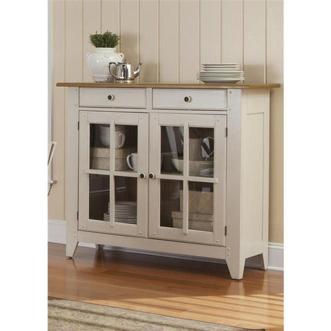 Liberty Furniture Al Fresco Server in Driftwood and Sand Finish