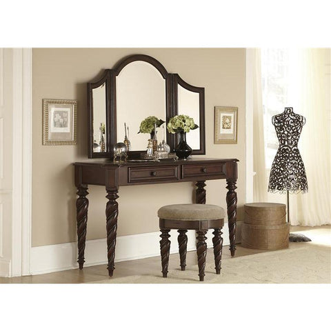 Liberty Furniture Arbor Place Vanity in Brownstone Finish