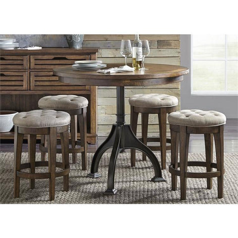 Liberty Furniture Arlington House 5 Piece Gathering Table Set