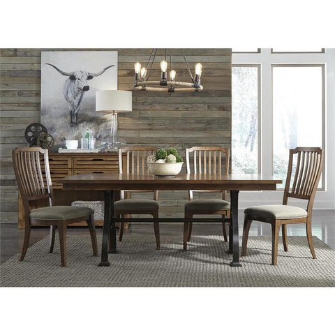 Liberty Furniture Arlington House 5 Piece Trestle Dining Table Set