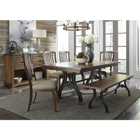 Liberty Furniture Arlington House 6 Piece Trestle Dining Table Set