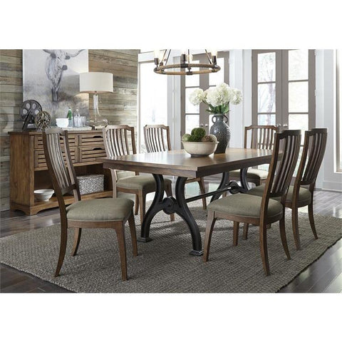 Liberty Furniture Arlington House 7 Piece Trestle Dining Table Set