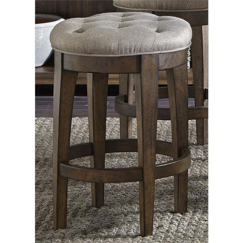 Liberty Furniture Arlington House Upholstered Backless Barstool
