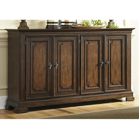 Liberty Furniture Armand Buffet in Antique Brownstone