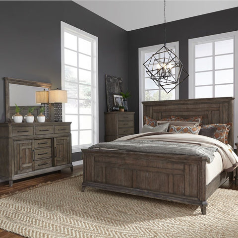 Liberty Furniture Artisan Prairie 3 Piece Queen Panel Bedroom Set