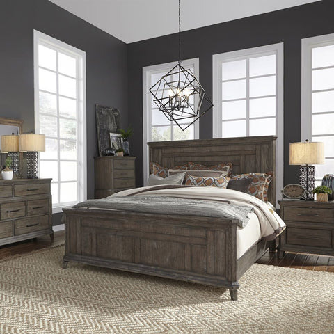 Liberty Furniture Artisan Prairie 4 Piece Queen Panel Bedroom Set