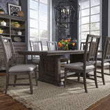 Liberty Furniture Artisan Prairie Opt 7 Piece Trestle Table Set