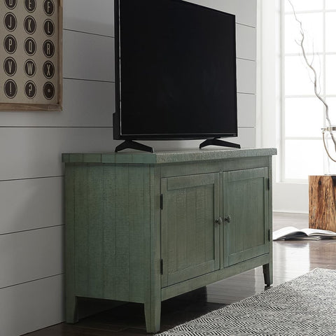 Liberty Furniture Boho Loft TV Console in Green