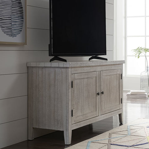 Liberty Furniture Boho Loft TV Console in White