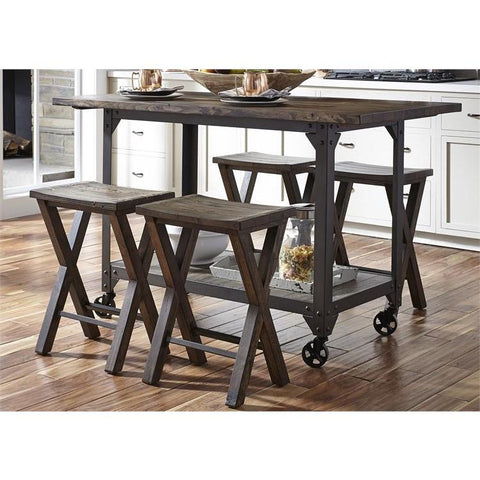 Liberty Furniture Caldwell 5 Piece Gathering Table Set