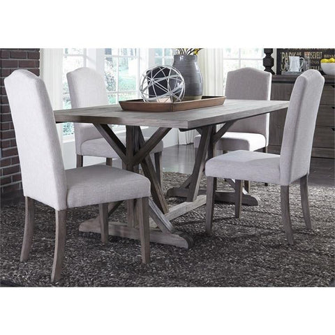Liberty Furniture Carolina Lakes 5 Piece Trestle Table Set