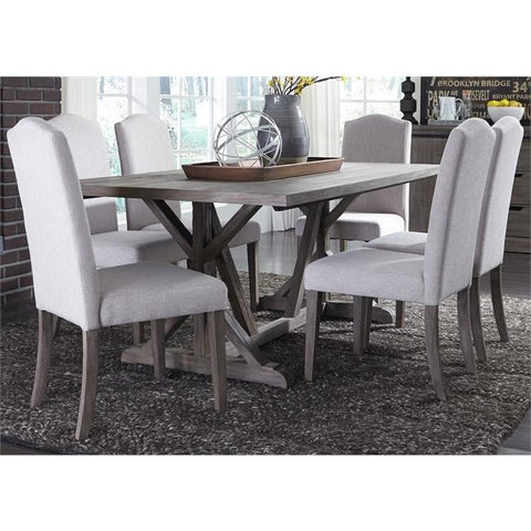 Liberty Furniture Carolina Lakes 7 Piece Trestle Table Set
