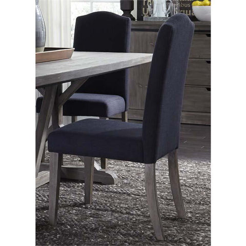 Liberty Furniture Carolina Lakes Upholstered Side Chair - Charcoal