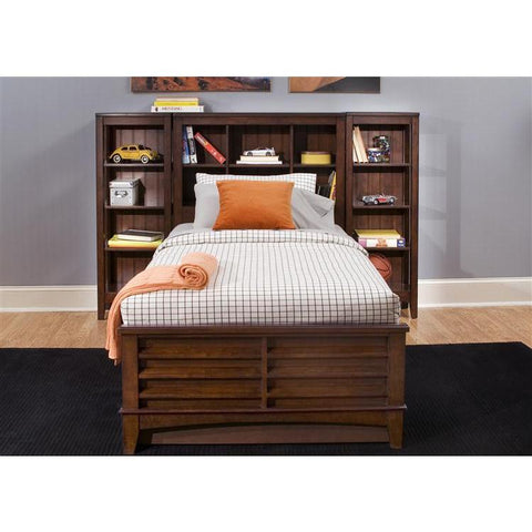Liberty Furniture Chelsea Square Bookcase Bed in Burnished Tobacco