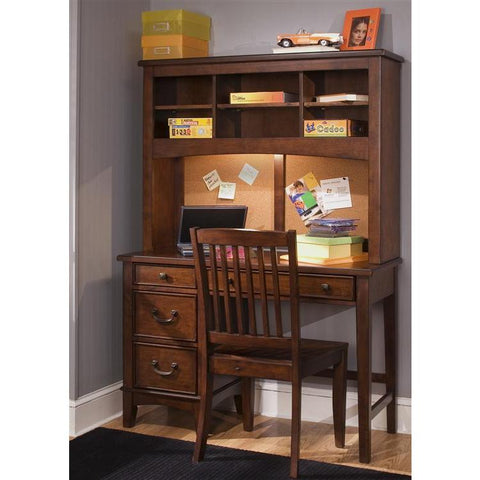 Liberty Furniture Chelsea Square Student Desk in Burnished Tobacco