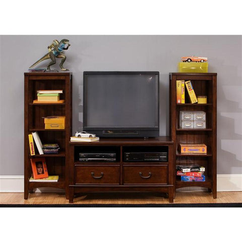 Liberty Furniture Chelsea Square Wall Unit in Burnished Tobacco
