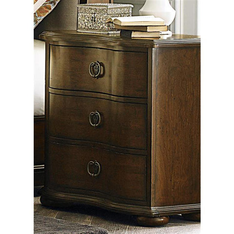 Liberty Furniture Cotswold 3 Drawer Night Stand in Cinnamon Finish