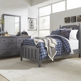Liberty Furniture Cottage View 2 Piece Panel Bedroom Set in Gray