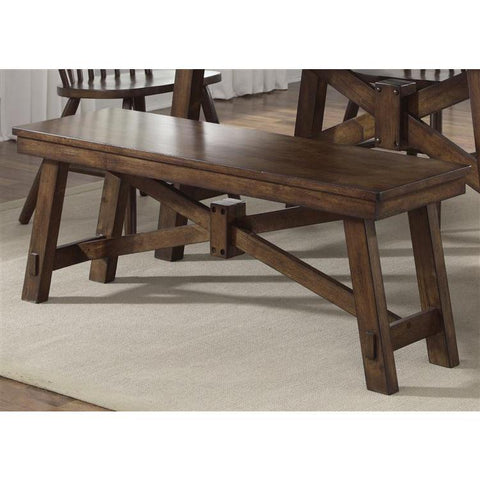 Liberty Furniture Creations Bench in Tobacco, Black & Tobacco Finish