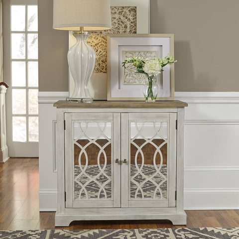 Liberty Furniture Emory 2 Door Mirrored Accent Cabinet