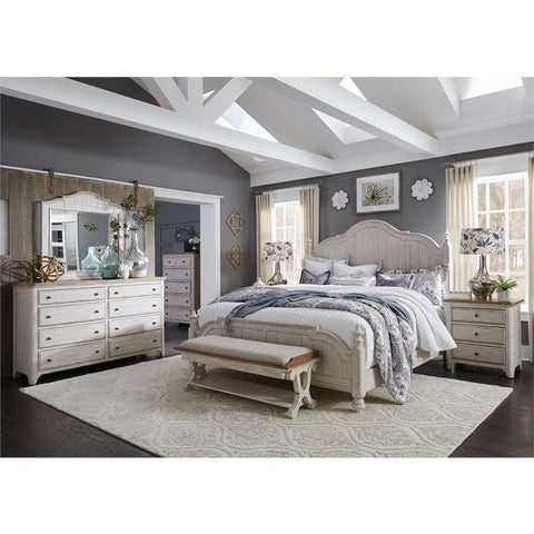 Liberty Furniture Farmhouse Reimagined Bed Bench Beyond Stores
