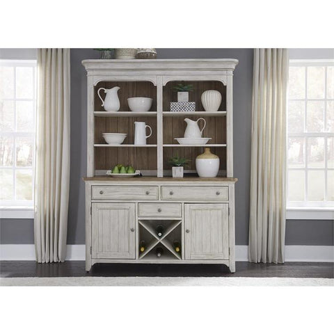 Liberty Furniture Farmhouse Reimagined Buffet & Hutch