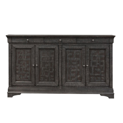 Liberty Furniture Gentry 4 Door Accent Cabinet in Gray
