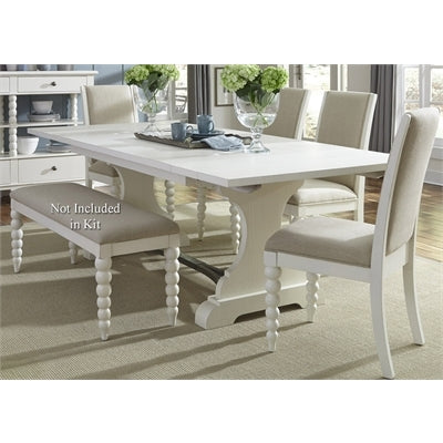 Liberty Furniture Harbor View Opt 5 Piece Trestle Table Set in Linen Finish