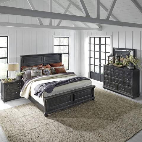 Liberty Furniture Harvest Home 3 Piece Queen Panel Bedroom Set w/Nightstand