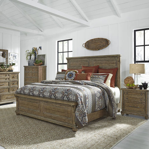 Liberty Furniture Harvest Home 4 Piece Queen Panel Bedroom Set