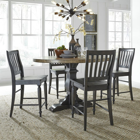 Liberty Furniture Harvest Home 5 Piece Gathering Table Set
