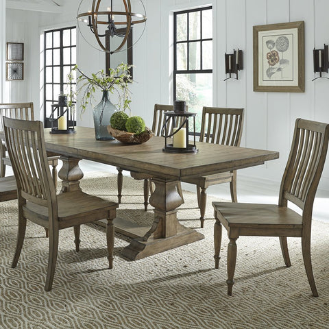 Liberty Furniture Harvest Home 7 Piece Trestle Table Set