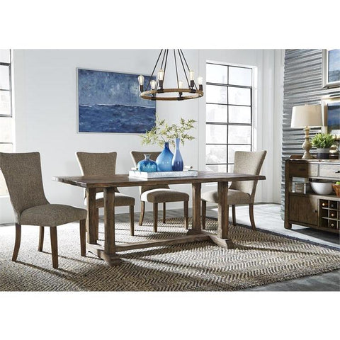 Liberty Furniture Havenbrook 5 Piece Trestle Dining Table Set