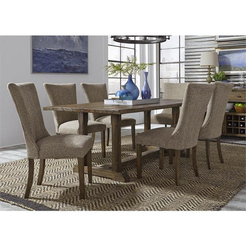 Liberty Furniture Havenbrook 7 Piece Trestle Dining Table Set
