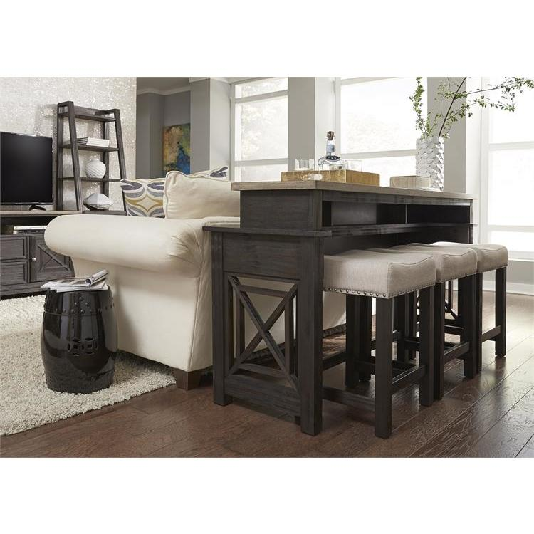 Liberty Furniture Heatherbrook 4 Piece Bar Table Set