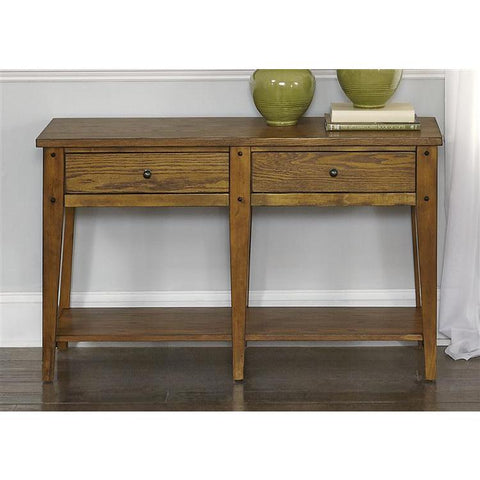 Liberty Furniture Lake House Sofa Table in Oak Finish