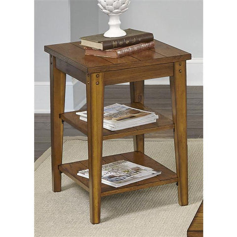 Liberty Furniture Lake House Tiered Table in Oak Finish