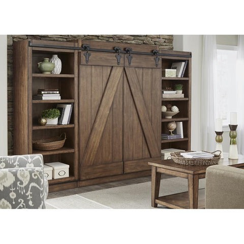Liberty Furniture Lancaster II Entertainment Center in Antique Brown