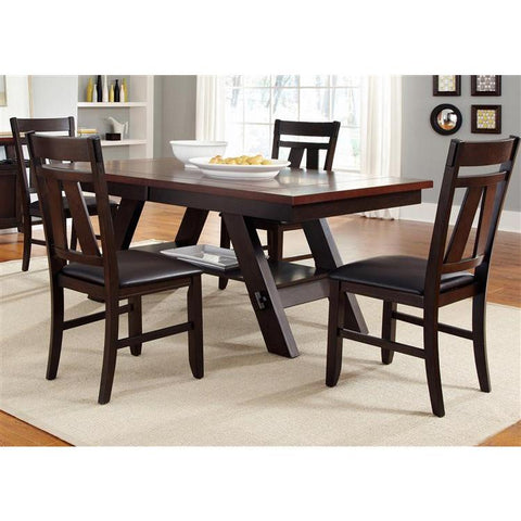 Liberty Furniture Lawson 5 Piece Rectangular Table Set in Light & Dark Expresso Finish