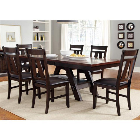 Liberty Furniture Lawson 7 Piece Rectangular Table Set in Light & Dark Expresso Finish