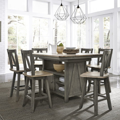 Liberty Furniture Lindsey Farm 7 Piece Gathering Table Set